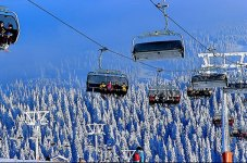 ski lifts at Feldberg in the Black Forest