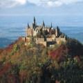 Burg Hohenzollern at Hechningen in Swabian Alps