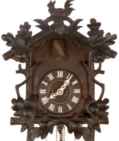 Cuckoo clock from the collection in the Furtwangen clock museum. Pic Wiki