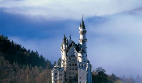 Neuschwanstein with cloud