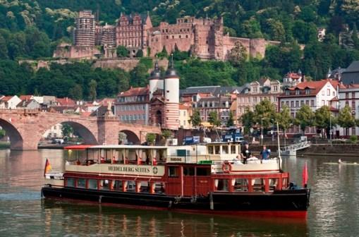 Hotels in Germany: restaurant ship of Heidelberg Suites