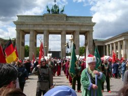 Turkish parade by Berlin's Brandenburg Gate ?? Wikimedia