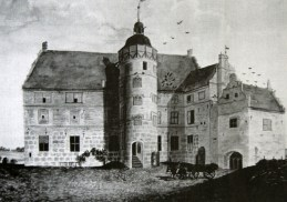 Schloss Ulrichshusen as it used to be in 1730 Pic: Wiki??
