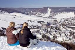 Looking down over Willingen in winter