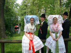 Young sorbs in festival gear, Spreewald