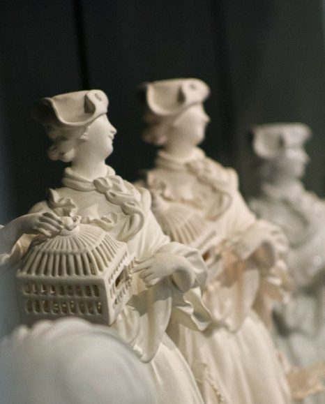 Delicate figurines are typical of Meissen porcelain