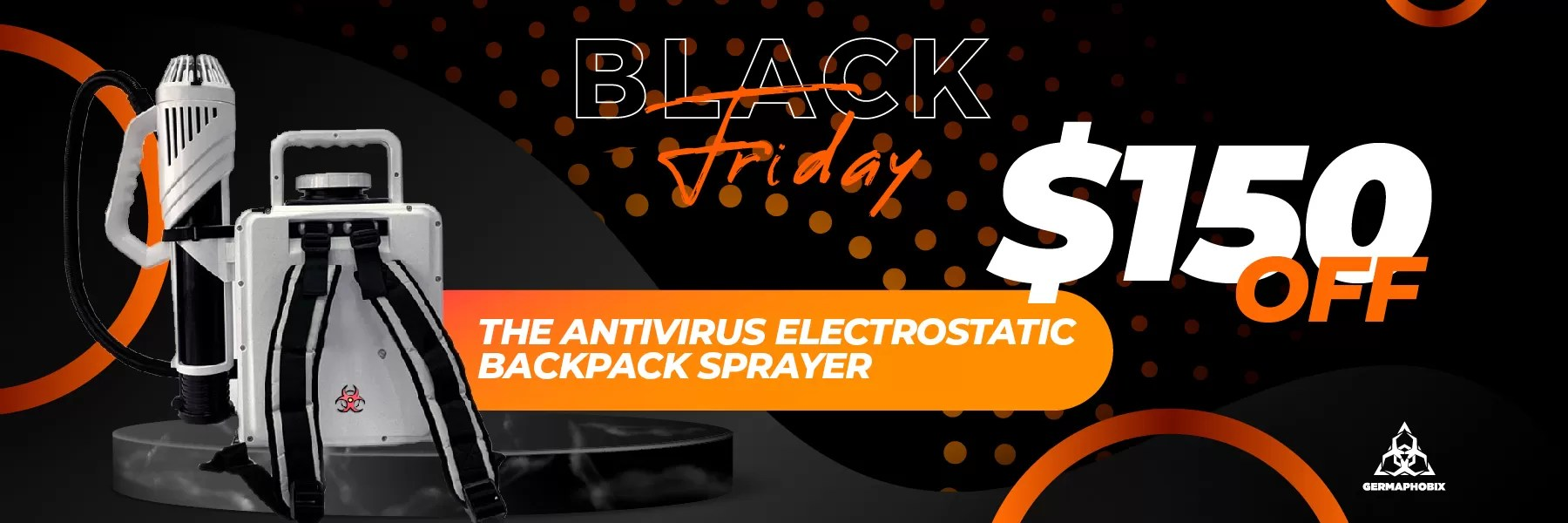Black Friday electrostatic backpack sprayer