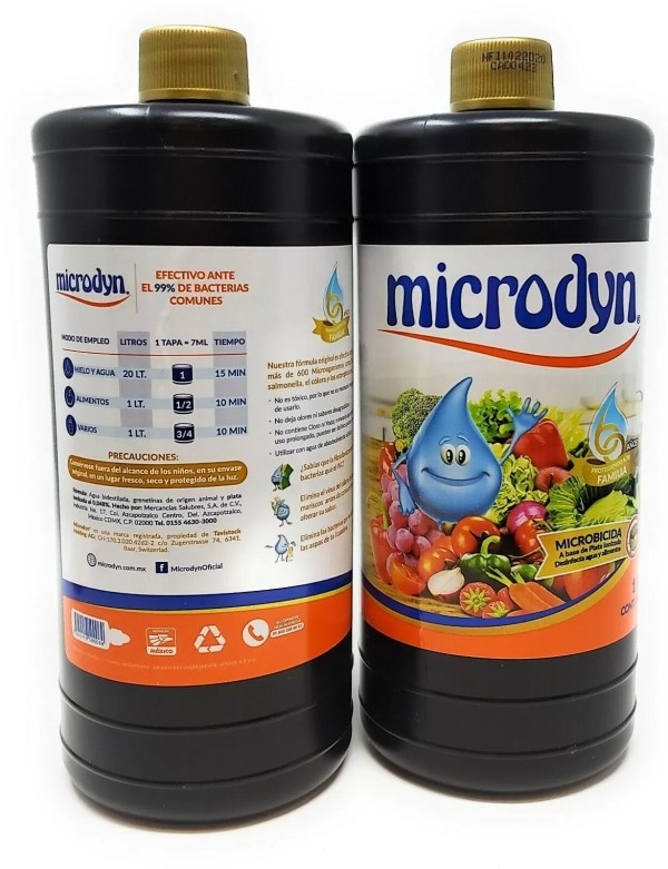 Microdyn Fruit and Vegetable Wash - 500ml (2 Pack) Add 8 dropfuls to 1 liter of water and soak fruit, vegetables and food for 10 minutes