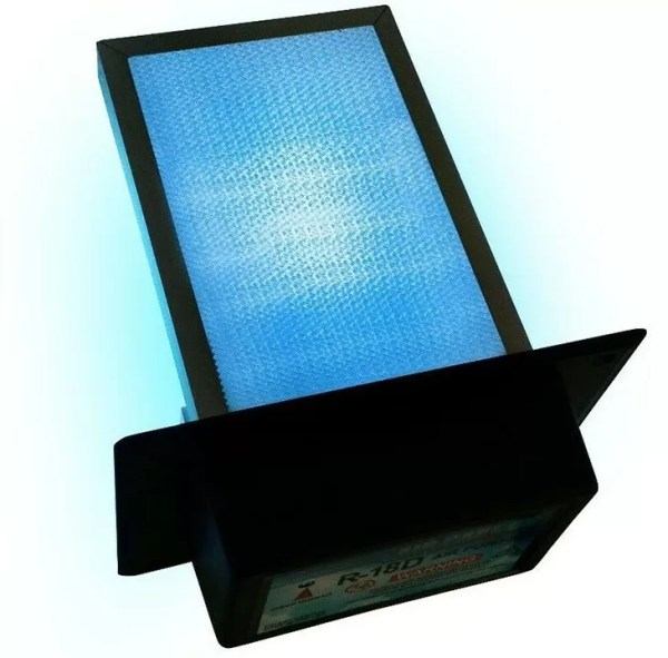 AirCare HVAC Air Purifier & UV-C Sterilizer Aluminum honeycomb PCO filter made for a maintance-free product that lasts a lifetime.