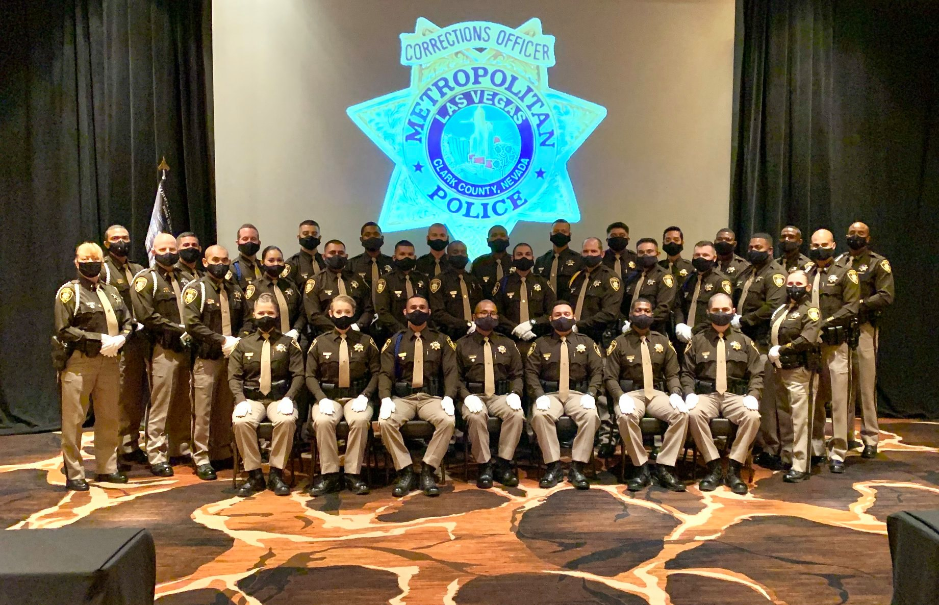 Las Vegas Police Officers in Masks LVMPD