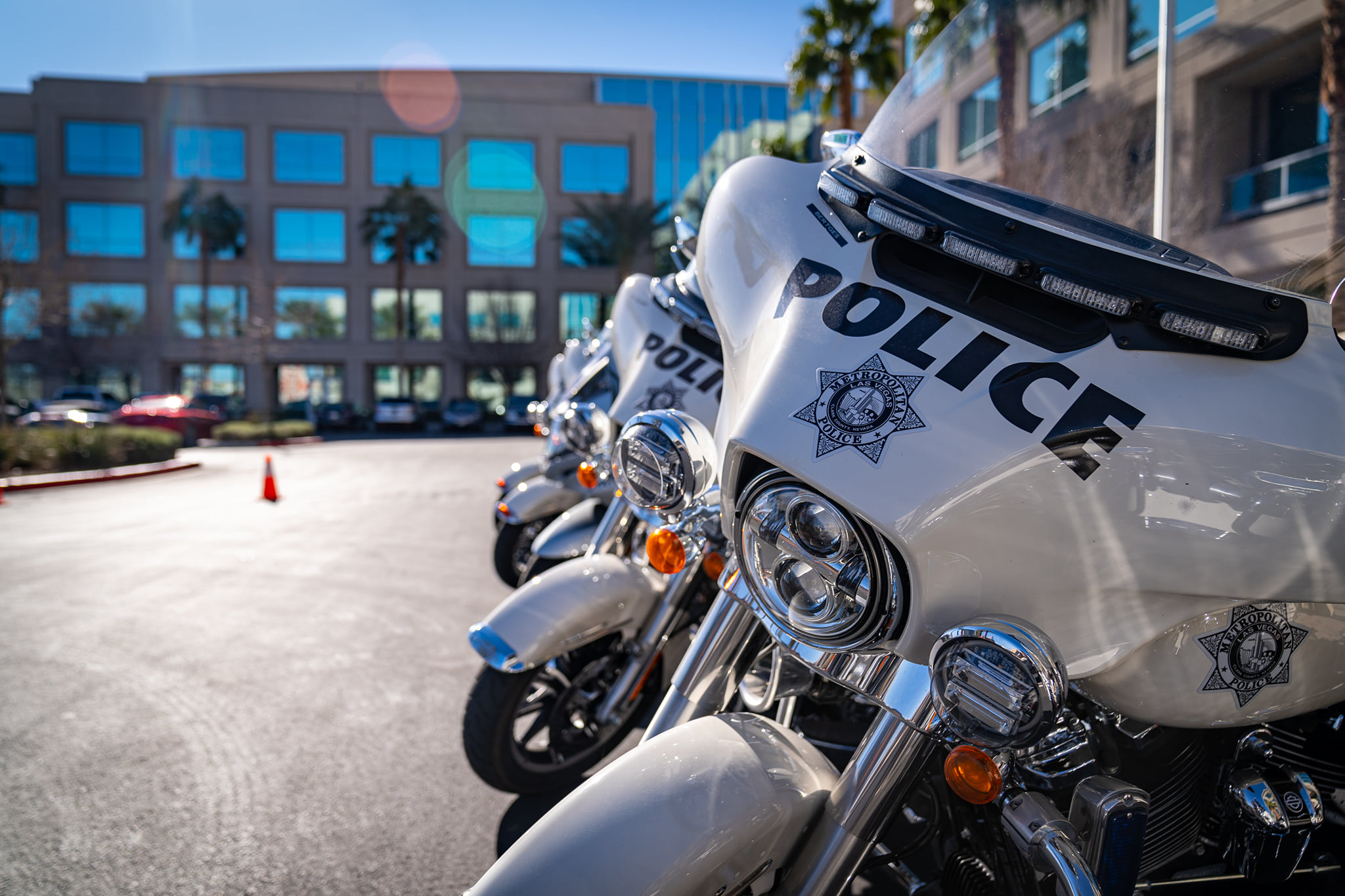 LVMPD Motorcycle Parked Outside of Headquarters