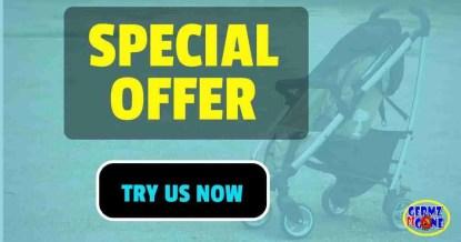 stroller & car seat cleaning special https://germzbegone.com
