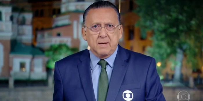 Galvão Bueno, principal nome do esporte da Globo; futebol vai substituir Faustão (Foto: Reprodução/Globo)