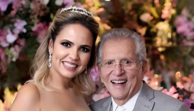 Carlos Alberto de Nóbrega do SBT e esposa Renata (Foto: Rodolfo Santos/ Divulgação)