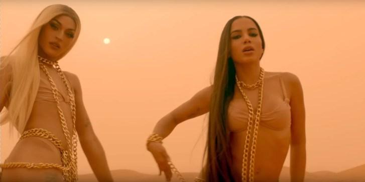 """Em 2017, Anitta e Pabllo lançaram uma produção feita em parceira e produzida pelo grupo Major Lazer e intitulada """"Sua Cara"""" (Foto: Reprodução)"""