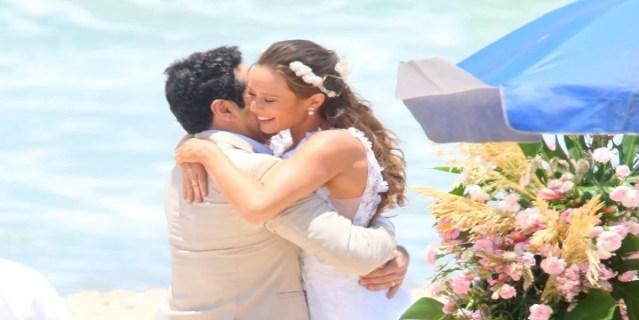 Atores de Haja Coração em cenas gravadas nesta semana (Foto: AG News) Globo