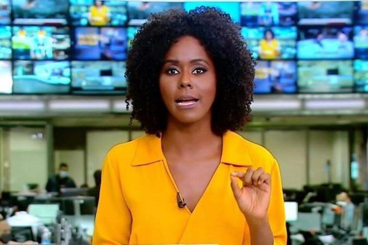 A apresentadora Maju Coutinho da Rede Globo, está passando por uma situação complicada dentro da emissora. (Foto: Reprodução)