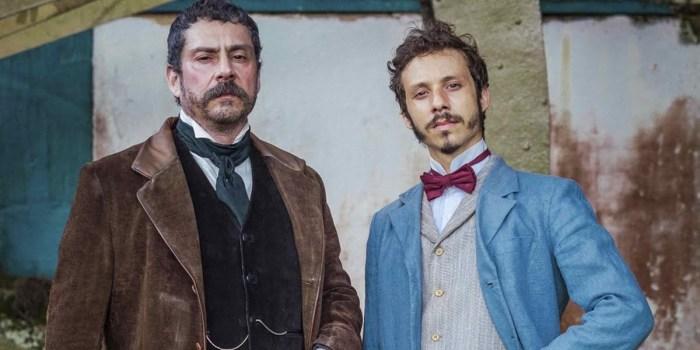 Alexandre Nero (Tonico) e João Pedro Zappa (Nélio) em Nos Tempos do Imperador, próxima novela das seis (Foto: Globo/Paulo Belote)