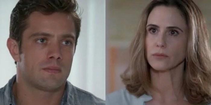 Renzo (Rafael Cardoso) vira alvo de Dominique (Guilhermina Guinle) no final de Salve-se Quem Puder (Foto: Reprodução/Globo)