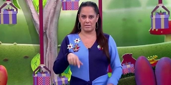 Silvia Abravanel no Bom Dia e Cia; apresentadora reclamou de funcionário ao vivo (Foto: Reprodução/SBT)