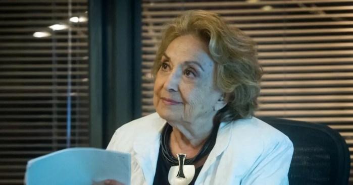 Eva Wilma teve um papel em O Tempo Não Para em 2018 (Foto: Reprodução)