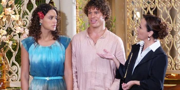 Guiomar revela a todos que Candinho é filho de Dionísio (Foto: Reprodução/TV Globo)