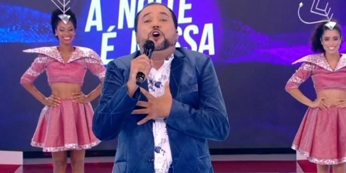 Geraldo Luís na estreia do A Noite é Nossa, que venceu o SBT na audiência (Foto: Reprodução/Record TV)