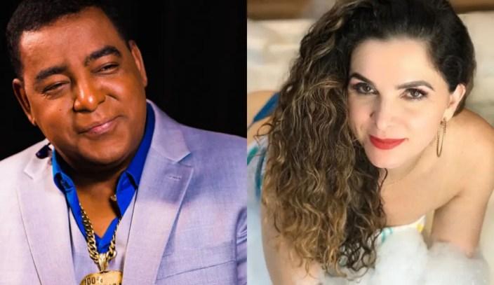 Modelo Luiza Ambiel fala sobre relacionamento com vocalista do Raça Negra (Foto: Reprodução)