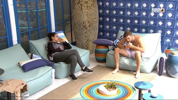 Caio e Juliette discutiram no BBB21 (Foto: Reprodução)