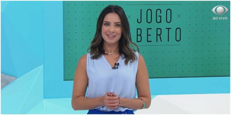 Kalinka Schutel assumiu o lugar de Renata Fan no Jogo Aberto (Foto: Reprodução)