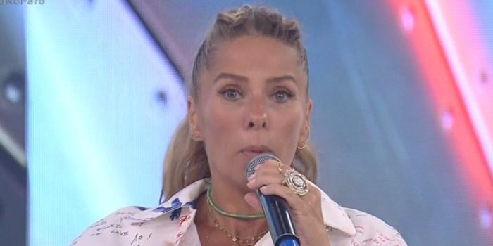 Adriane Galisteu durante participação no Hora do Faro (Foto: Reprodução/Record)