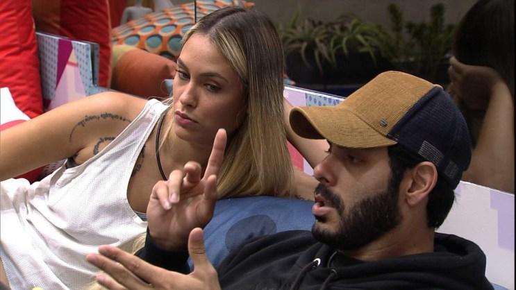 Sarah e Rodolffo no BBB21 (Foto: Reprodução)