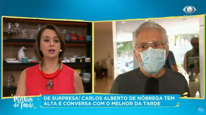 Carlos Alberto de Nóbrega saiu do hospital (Foto: Reprodução)