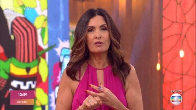 Fátima Bernardes apresentando seu programa nas manhãs globais (Foto: Reprodução)