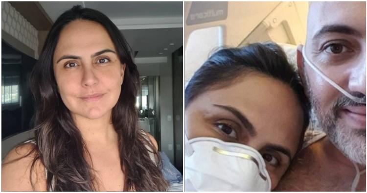 Carla Cecato contou que seu marido voltou a ser internado por conta de piora no estado clínico (Foto: Reprodução)