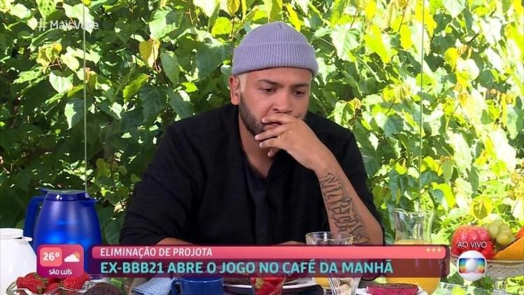 BBB21: Projota em conversa com Ana Maria Braga no Mais Você (Foto: Reprodução)