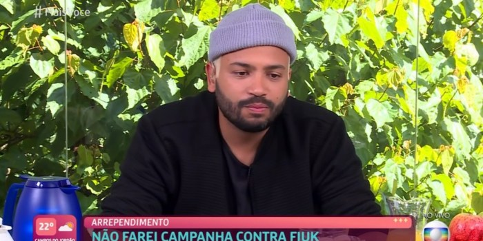 Projota durante participação no Mais Você (Foto: Reprodução/TV Globo)