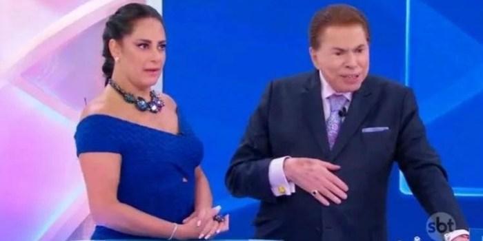 Silvia Abravanel e o pai, Silvio Santos; apresentadora do Bom Dia e Cia está com covid-19 (Foto: Reprodução/SBT)