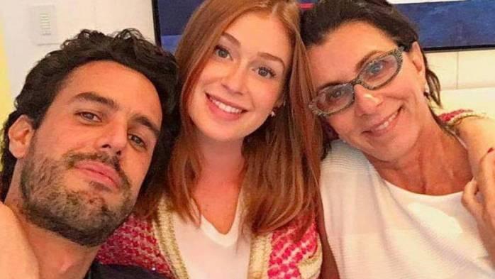 Xandinho, Marina e Vera Negrão (Foto: Reprodução)
