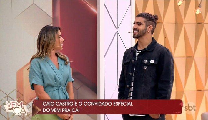 Patrícia Abravanel e Caio Castro (Foto: Reprodução)