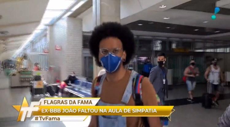 João Luiz, do BBB21, mostra antipatia (Foto: Reprodução)