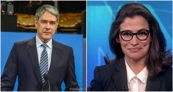 William Bonner e Renata Vasconcelos são retirados da bancada do Jornal Nacional por duas semanas