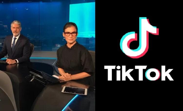 Jornal Nacional recebe patrocínio do TikTok (Foto: Reprodução)