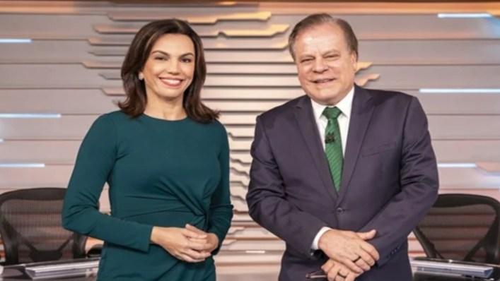 Ana Paula Araújo e Chico Pinheiro. (Foto: Divulgação)