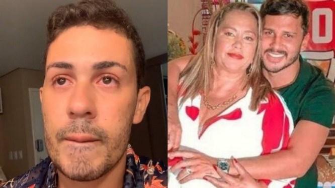 Carlinhos Maia informa a morte de Telma Guimarães, mãe de Lucas Guimarães (Foto: Reprodução)