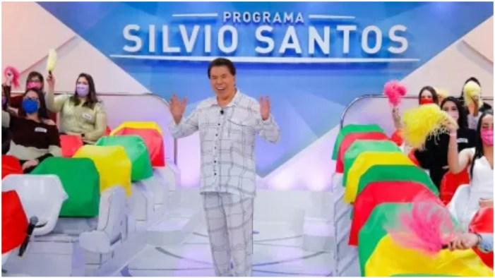 Silvio Santos de pijama (Foto: Reprodução)