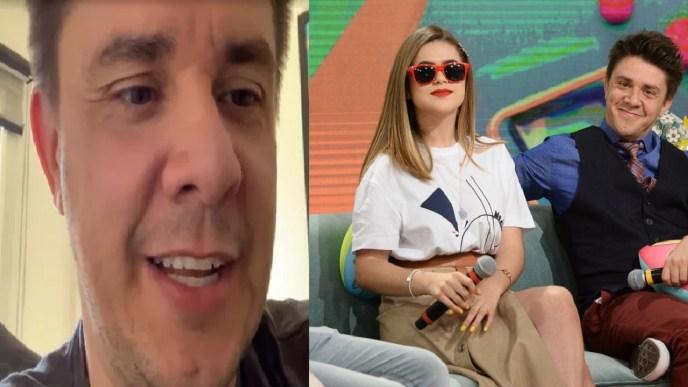 Oscar Filho e a apresentadora Maísa (Foto: Reprodução)