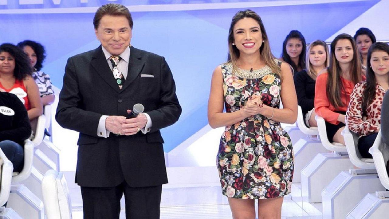 Silvio Santos e sua filha, Patrícia Abravanel (Foto: Reprodução)