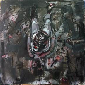 Αθήνα στο τραπέζι, λάδι σε καμβά, 150x50 cm, 2011 Athens on the table, oil on canvas, 150x150 cm, 2011