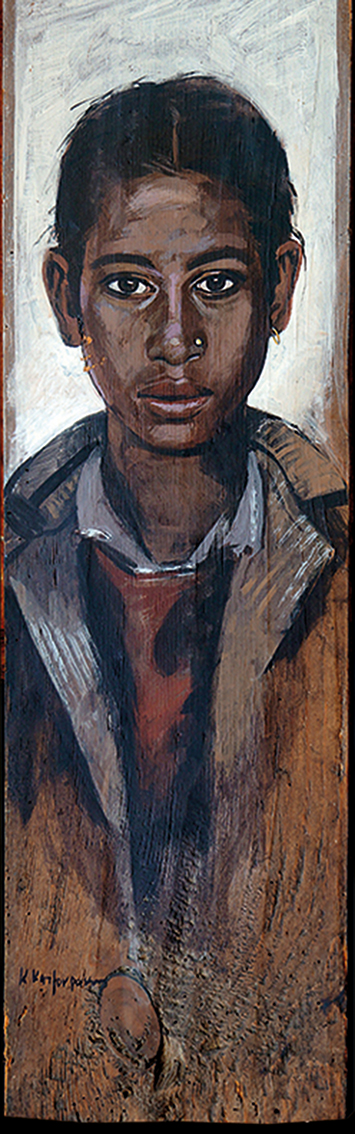 Αναστασία, λάδι σε ξύλο, 50x20 cm, 1998